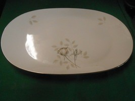 "Magnificent ROSENTHAL Germany PEACH BROWN-GRAY ROSE Large PLATTER 15""x 9"" - $34.24"