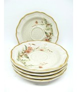 "Mikasa Field Boquet 6.25"" Saucers Set Of 5 - $8.73"