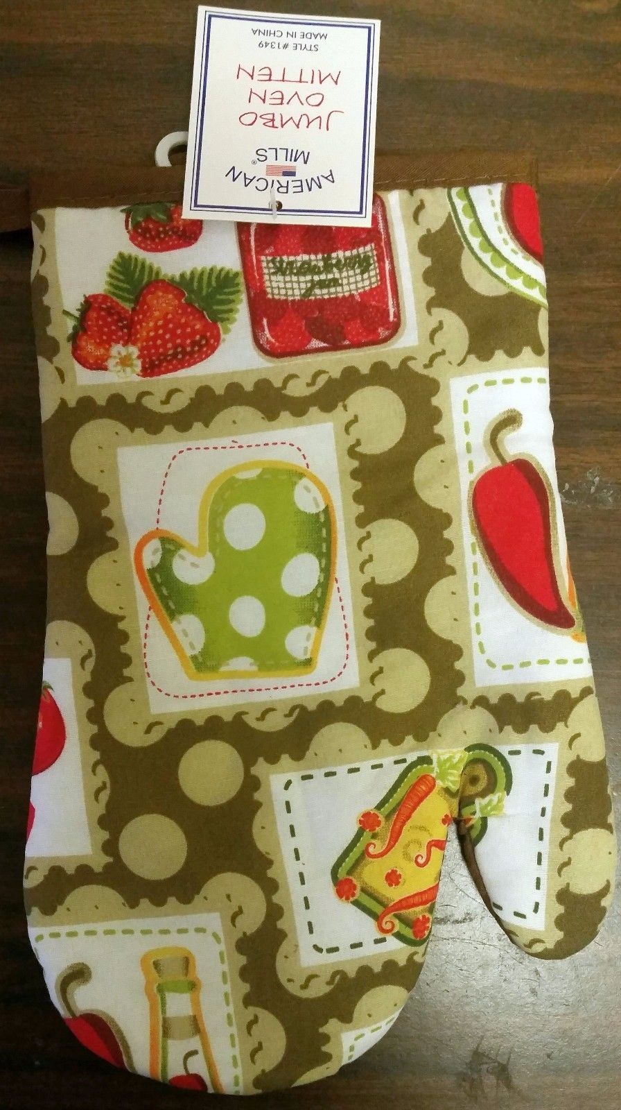 """1  Printed Oven Mitt (10"""") STRAWBERRIES & OTHER FOOD by AM - $7.91"""