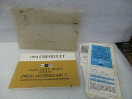 Chevy Pickup TCHEV30   1974 Owners Manual 17368 - $17.77