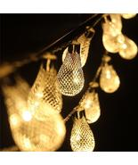 KCASA 3.3M 20 LED Metal Water Drop String Lights LED Fairy Lights for Fe... - $30.91