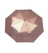 Misty Harbor Ladies Ruffle Automatic Open 3 Section Umbrella Rose Gold - $14.84