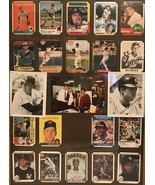 Vintage Baseball Cards Signed Lot Of 21  Mix/ Frame Not Included - $467.50