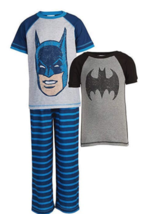 Neuf Komar Kids Garçon Batman 3-Piece Pyjama Ensemble Taille 4T