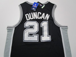 TIM DUNCAN / NCAA HALL OF FAME / AUTOGRAPHED SAN ANTONIO SPURS PRO STYLE JERSEY image 1