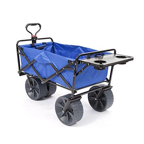 Mac Sports Heavy Duty Collapsible Folding All Terrain Utility Wagon Beach Cart w