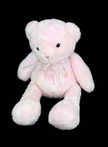 "Carter's Just One Year My First Bear Pink Plush Rattle Baby Toy 10"" Lovey - $19.95"