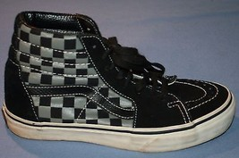 Vans Off the Wall Skateboard Shoes Mens 5 Womens 6.5 Black Gray Checked ... - $32.90
