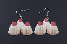 Bonsny cherry cake food drop earrings colorful new 2014 cute lovely prin... - $10.00