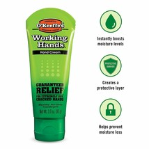 O'Keeffe's Working Hands Hand Cream, 3 ounce Tube, (1-, 2-, 3-, 4-, 6-, 12) - $9.44+