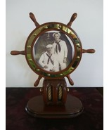 Heritage Mint Wooden Wheel Nautical Picture Frame Navy - $49.49