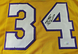 SHAQUILLE O'NEAL / AUTOGRAPHED LOS ANGELES LAKERS YELLOW CUSTOM JERSEY / JSA COA image 3