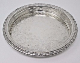 Rogers Brothers 1847 Silverplated Serving Tray 17706 9.5 inch diameter 1770G - $14.95