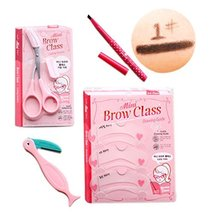 4 PCS Professional Make Up Tool Eyebrow Shapers/Groomer/Brow Class/Pencil, Black image 2
