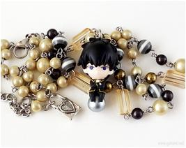 Toushiro Hijikata Figure Necklace, Anime Jewelry, EGL - $37.00