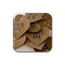 Romantic Love I Love You Please Kiss Me (Square) Rubber Coaster - $1.99