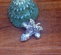 Rhinestone Leaf Alloy Charm Chunk Snap Button fit for Noosa Bracelet NEW  - $2.99
