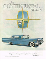 Vintage 1959 Magazine Ad Lincoln Mark IV Elegance Implies Precision And Polish - $5.93