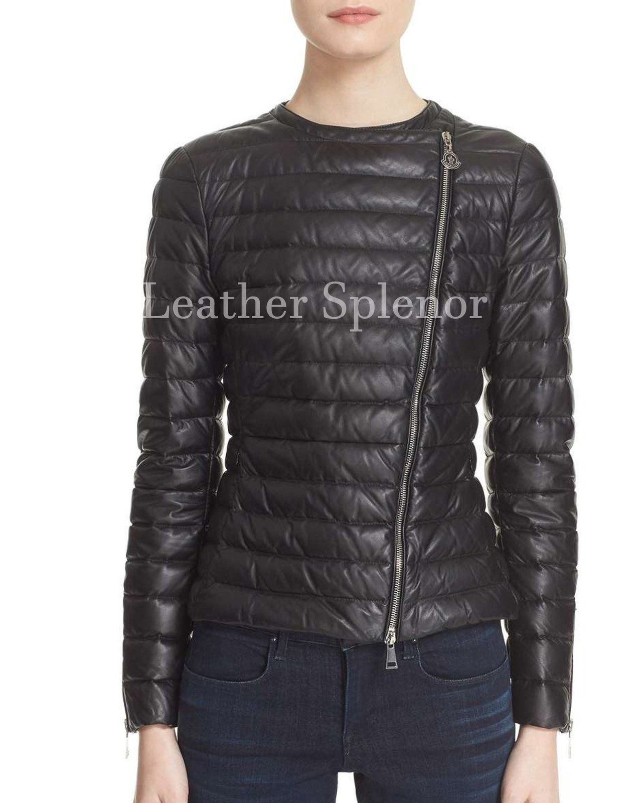 Puff Styled Women Leather Jacket