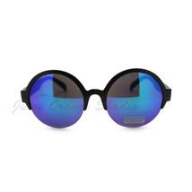 Top Half Rim Round Circle Frame Trendy Women's Sunglasses - £5.44 GBP