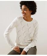 LOFT Abstract Pointelle Sweater Sand Heather New - €24,68 EUR