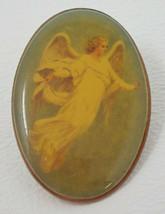 Vintage Acrylic Bubble Victorian Angel Lapel Pin - $15.15