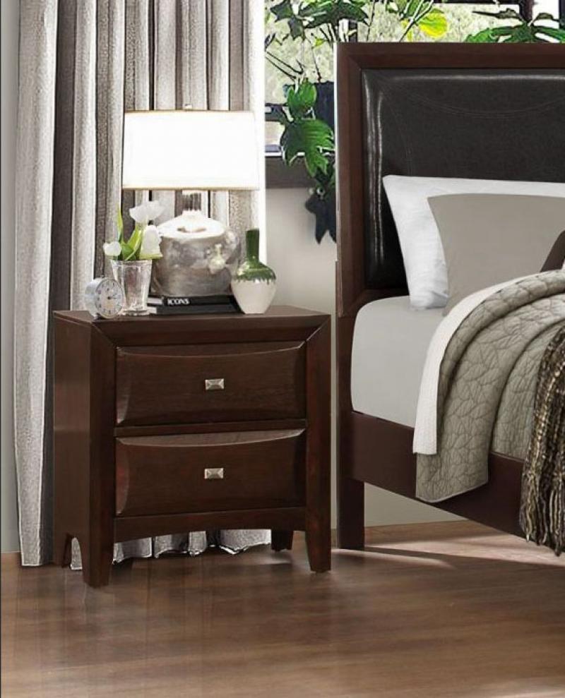 espresso wood queen bedroom set 4pcs classic homelegance