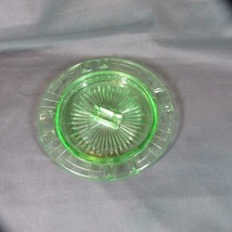Vintage Hazel Atlas Uranium Green Depression Glass Checkerboard Ash Tray... - $14.96