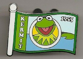 Disney Jim Henson Muppets Kermit the Frog 1955 Flag Limited Edition 500 ... - $11.11