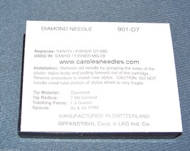TURNTABLE RECORD PLAYER STYLUS NEEDLE fits NP4 NP-4 Fisher ST-09D ST09D image 2