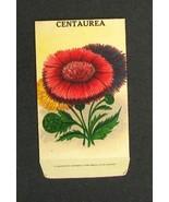 Vintage Flower Seed Packet Burt's Centaurea 1910's - $9.99