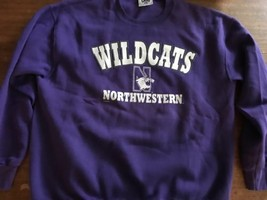 Vtg Northwestern University Lee Sweatshirt SIZE XL Mint Light Wildcats Purple - $21.37