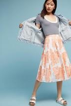 New Anthropologie Arboretum Skirt size 6 Orange Retail $128 - $49.50