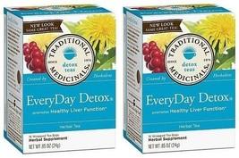 Traditional Medicinals Teas Everyday Detox 2 Box Pack - $17.77