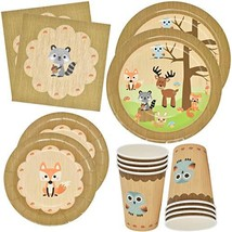 "Gift Boutique Woodland Animal Creatures Tableware Set 24 9"" Plates 24 7""... - $30.06"