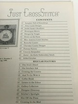 Just Cross Stitch Magazine Patterns Friendship Sampler Bull Rider August... - $9.00