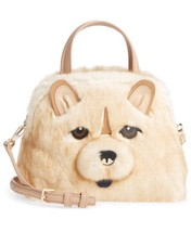 kate spade Year of the Dog Chow Chow Lottie Small Satchel Fur Handbag Pu... - €210,43 EUR