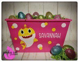 Personalized Baby Shark Easter Basket - $20.00