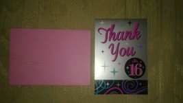 40 Sweet 16 Sixteen Thank You Cards Pink Silver Crown Princess Birthday ... - $19.79