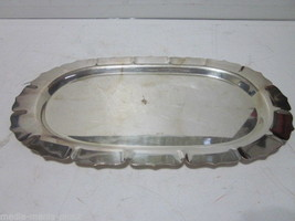 VINTAGE EARLY AMERICAN INTERNATIONAL SILVER PLATED OVAL SERVING TRAY #2424 - $9.99