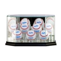 Glass Baseball 9-Ball Display Case with Cherry Wood Molding - $84.99