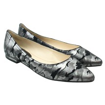 Nine West SoEasyO Womens Size 10 Silver Metallic Camo Slip-ons Flats - $24.74