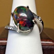 New Custom Chistick 6.45ct Ethiopian black welo opal Diamond & Platinum ... - $5,999.00
