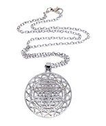 Chakra Sri Yantra Meditation Pendant Large Yoga Meditation Chain Necklace - $29.54
