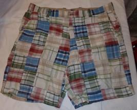 Izod Patchwork Madras Shorts 38 Mens Multicolor - $22.06