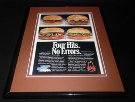 1986 Arby's / World Series Framed 11x14 ORIGINAL Vintage Advertisement B - $32.36