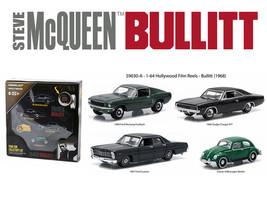 "Hollywood Film Reels Series 3 \""Bullitt\"" (1968) 4 Cars Set 1/64 Diecast... - $42.22"