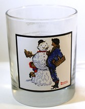"Vintage 1979 Arby's Norman Rockwell Glass ""Snow Sculpturing"" Winter Scen... - $10.72"