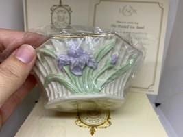 Lenox The Painted Iris Bowl In Box Leno Classics Floral Garden Collectib... - $39.59