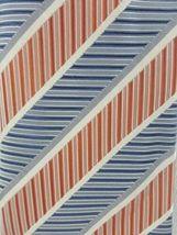 Geoffrey Beene Tie Silk Striped Orange White Blue Necktie image 5